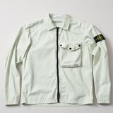 Men's Clothing Stone Island Old Effect Zip Overshirt - V0152 Green