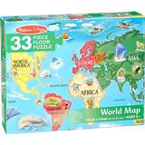 Floor Jigsaw Puzzles Melissa & Doug World Map 33 Pieces