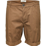 Selected Slhparis Regular Fit Shorts - Brown/Camel