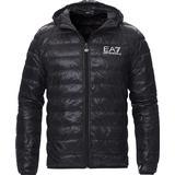 Padded jacket Men's Clothing EA7 Train Core Light Down Hoodie Jacket - Black