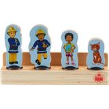 Wooden Figures Character Fireman Sam Wooden Figures 4 Pack