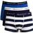 Gant Rugby Stripe Trunks 3-pack - Classic Blue