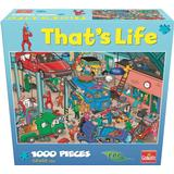 Classic Jigsaw Puzzles Goliath That's Life Puzzle Garage 1000 Pieces