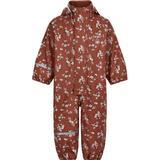 Rain overalls Children's Clothing CeLaVi PU Rain Overall Flowers - Redwood (310233-4519)