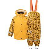 Children's Clothing Didriksons Slaskeman Printed Kid's Rain Set - Citrus Yellow Dots (503733-855)