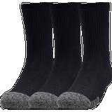 Under Armour Youth Heatgear Crew Socks 3-pack - Black (1346750-001)