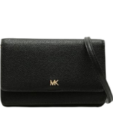 Michael Kors Pebbled Leather Phone Case Crossbody Bag - Black