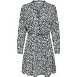 Women's Clothing Only Patterned Tunic Dress - Blue/Night Sky