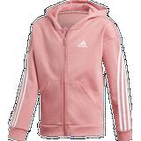 Adidas 3-Stripes Full-Zip Hoodie Girls - Hazy Rose/White