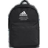 Adidas Classic Twill Fabric Backpack - Black/White
