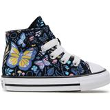 Trainers Children's Shoes Converse Toddlers' Butterfly Easy-On Chuck Taylor All Star High Top - Black/Bleached Cyan/Pink Gaze