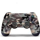 Grey ps4 controller Gaming Accessories Slowmoose PS4 Controller Vinyl Skin - Black/Grey Camouflage