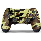 Grey ps4 controller Gaming Accessories Slowmoose PS4 Controller Vinyl Skin - Cream/Grey Camouflage