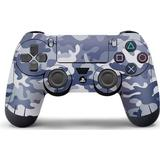 Grey ps4 controller Gaming Accessories Slowmoose Slowmoose PS4 Controller Vinyl Skin - Blue/Grey/White Camouflage
