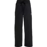 Trousers Women's Clothing Adidas Originals Primeblue Relaxed Wide Leg Joggers - Black