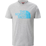 The North Face Youth Easy Short Sleeve T-shirt - Tnf Light Grey Heather-Meridian Blue