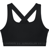 Sports Bra Under Armour Mid Crossback Sports Bra - Black/Jet Gray