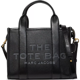 Handbags Marc Jacobs The Leather Mini Tote Bag - Black