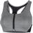 Nike Dri-Fit Shape Padded Zip-Front Sports Bra - Smoke Grey/Pure/Black/White