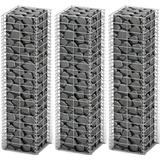 Chain-Link Fence on sale vidaXL Gabion Basket Set 25x25cm 3-pack