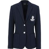 Women's Clothing Lauren Ralph Lauren Anfisa Patch Jacquard Blazer - Dark Blue