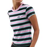 Women's Clothing Vans Big Stripe T-shirt - Black