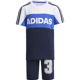 Children's Clothing Adidas Graphic Tracksuit - White/Collegiate Navy (FM9826)