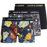 Boxer Shorts Children's Clothing Jack & Jones Boy's Sugar Skull Print Trunks 3-pack - Black/Black (12189220)