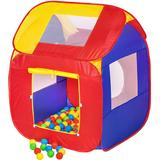 Ball Pit Set tectake Play Tent with 200 Balls Pop Up Tent - 200 balls