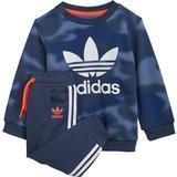 Children's Clothing Adidas Infant's Allover Print Camo Crew Set - Crew Blue/White (GN4109)