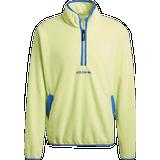 Sweaters Men's Clothing Adidas Adventure Polar Fleece Half-Zip Sweatshirt - Semi Frozen Yellow