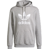 Adidas originals trefoil hoodie men's Men's Clothing Adidas Adicolor Classics Trefoil Hoodie - Medium Grey Heather/White