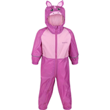 Regatta Kid's Charco Breathable Waterproof Puddle Suit - Radiant Orchid Pink