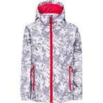 Trespass Kid's Qikpac Waterproof Camo Print Packaway Jacket - White Camo