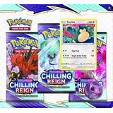 Collectible Cards Board Games Pokémon Sword & Shield 6 Chilling Reign 3 Pack Blister
