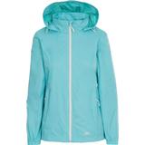 Rain Clothes Women's Clothing Trespass Women's Sabrina Waterproof Jacket - Aquamarine