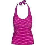 Swimwear Women's Clothing Trespass Winona Women's Halter Neck Tankini Top - Purple Orchid Spot