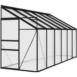 Lean-to Greenhouses vidaXL 312047 7.44 m² Aluminum Polycarbonate