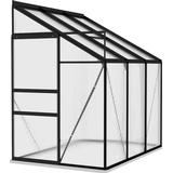 Lean-to Greenhouses vidaXL 312050 3.97m² Aluminum Polycarbonate