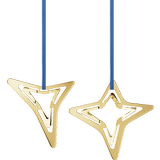 Christmas Decorations Georg Jensen Three & Four Pointed Star 2021 2-pack Christmas tree ornament