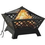 Fire Place vidaXL Fireplace with Fire Fork XXL 64cm