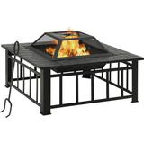 Fire Place vidaXL Fireplace for The Garden with Fire Fork XXL 81cm