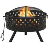 Fire Place vidaXL Fireplace with Fire Fork XXL 68cm