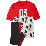 Children's Clothing Adidas Infant's Disney Mickey Mouse Summer Set - Vivid Red/White/Black (GT9475)