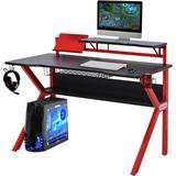 Gaming Desk Homcom Jolie Gaming Desk - Black/Red