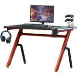 Gaming Desk Homcom Ergonomic RGB Gaming Desk - Black/Red