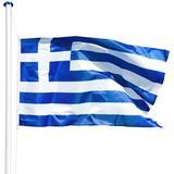 Garden Accessories tectake Greece Flagpole 5.65m