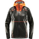 Gore shakedry Women's Clothing Haglöfs LIM Breathe GTX Shakedry Jacket Women - Magnetite/Flame Orange