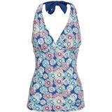 Swimwear Women's Clothing Trespass Bloomer Halterneck Tankini Top - Blush Print