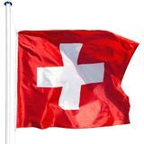 Garden Accessories tectake Switzerland Flagpole 5.65m